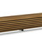 public bench / contemporary / exotic wood / steel
