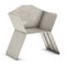contemporary chair / with armrests / galvanized steel / outdoor