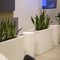 polyethylene planter / rectangular / contemporary / for public spaces