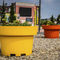 polyethylene planter / round / contemporary / for public spaces