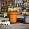 polyethylene planter / round / high-resistance / contemporary