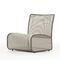 contemporary fireside chair / steel / mesh