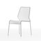 contemporary chair / stackable / mesh / steel