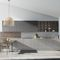 contemporary kitchen / lacquered wood / island / lacquered