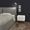 original design bedside table / lacquered MDF / rectangular / for hotels
