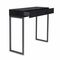 contemporary sideboard table / glossy lacquered wood / lacquered metal base / rectangular
