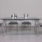 New Baroque design dining table / glass / marble / lacquered wood base