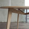 contemporary table / wooden / curved