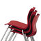 contemporary restaurant chair / with armrests / upholstered / stackable