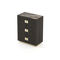 high chest of drawers / contemporary / wooden / metal