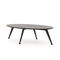 contemporary coffee table / wooden / metal base / oval