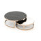 contemporary coffee table / slate / iron base / round