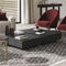contemporary side table / slate / metal base / round