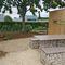 original design picnic table / galvanized steel / stone / HPL