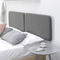 double bed / contemporary / with upholstered headboard / wood veneer