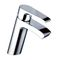 washbasin mixer tap / chrome-plated brass / bathroom / 1-hole