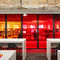 interior door / pivoting with offset axis / pivoting with central axis / anodized aluminum