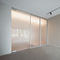 interior door / pivoting with offset axis / pivoting with central axis / glass