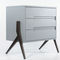 contemporary chest of drawers / MDF / birch / gray