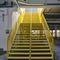 straight staircase / half-turn / metal frame / metal steps
