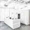 contemporary kitchen / natural stone / island / with integrated handle