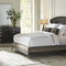 queen size bed / traditional / upholstered / with headboard