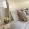 queen size bed / traditional / with headboard / wood veneer