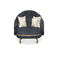 contemporary chaise longue / fabric / commercial