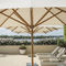 commercial patio umbrella / stainless steel / bamboo / wind-resistant