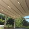 wall-mounted pergola / aluminum / PVC fabric sliding canopy / retractable