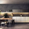 contemporary kitchen / wooden / glass / stone