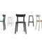 contemporary bar stool / leather / polypropylene / contract
