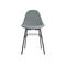 contemporary dining chair / upholstered / fabric / metal