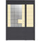 entry door / swing / galvanized steel / security