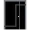 entry door / swing / galvanized steel / security