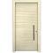 entry door / swing / wood veneer / galvanized steel