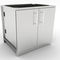 stainless steel kitchen sink cabinet / for gardens