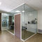 removable partition / glass / aluminum / for offices