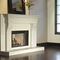 traditional fireplace mantel / stone / concrete