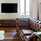sofa bed / Chesterfield / leather / 2-person