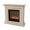 traditional fireplace surround / natural stone / wooden / corner