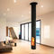 hanging fireplace / wood-burning / contemporary / closed hearth