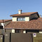 flat roof tile / clinker / red / brown