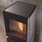 pellet heating stove / contemporary / metal / rotating