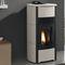 pellet boiler stove / steel / ceramic / contemporary