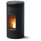 pellet heating stove / contemporary / corner / steel