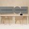contemporary high bar table / laminate / rectangular / commercial