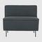 Scandinavian design fireside chair / fabric / black / brown