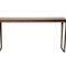 contemporary sideboard table / Corian® / American walnut / rectangular