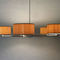 contemporary chandelier / canvas / wooden / LED